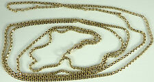 Antique Victorian 59 inch long 9ct gold watch guard chain Weighs 23.7 grams
