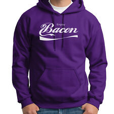 Enjoy BACON Funny Pork Lovers Tee Soft Drink Parody Gag Gift Hoodie Sweatshirt