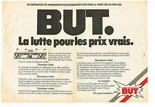 Publicité Advertising 1981 (2 pages) Les magasins BUT
