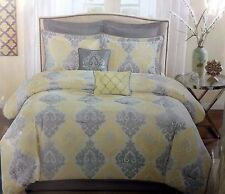 8 Piece CAL KING Comforter Set 2 shams 2 Euro shams 2 toss pillows bedskirt