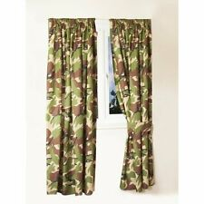 "Kids Army Camouflage Curtains 66"" Width x 72"" Drop Army Theme Bedroom Ideas"