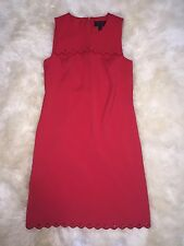 J Crew Red Scalloped Jumper Dress with Grommets sz 2T Nwt Style# F2422 SOLD OUT!