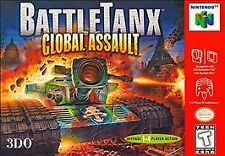 Nintendo 64 N64 Game Cartridge BATTLE TANX: GLOBAL ASSAULT