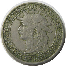 elf Guadeloupe 1 Franc 1903  Native Chief