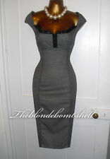 Julien Macdonald Vintage 50s Style Diva Wiggle Galaxy Office Pencil Dress UK10