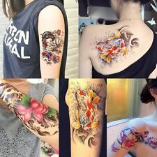4 Sheets Temporary Tattoos for Women Arm Body Tattoo Sticker Geisha Fake Tatoo