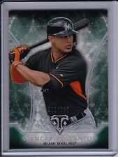 GIANCARLO STANTON 2015 Topps Triple Threads EMERALD Base Parallel #'d /250 Green