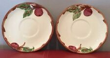 2 SAUCERs - FRANCISCAN WARE - APPLE Pattern Made in California   S1
