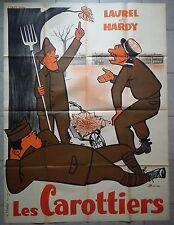 Affiche LES CAROTTIERS James W. Horne LAUREL ET HARDY R120x160cm