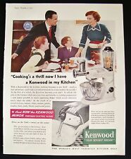 Vintage 1950's Kenwood Food Mixer Colour Magazine Advert ~ Retro Kitchen Dining