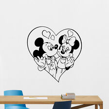 Minnie Mickey Mouse Wall Decal Disney Vinyl Sticker Nursery Decor Poster 193hor