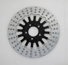 "DNA BLACK 2-PIECE SPOKE 11.5"" REAR BRAKE DISC ROTOR HARLEY STAINLESS MAMMOTH"