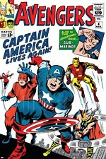Marvel Avengers Classic No.4 Cover: Captain America, Iron Man, T… Poster - 24x36