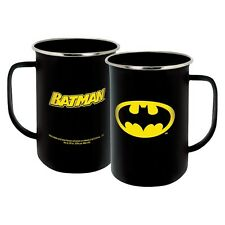 7575 DC Comics Batman Insgnia Camping Enamelware 20 Oz Mug Coffee Superhero