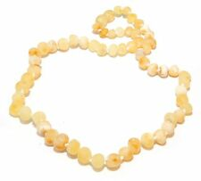 Genuine Raw Baltic Amber Beads Necklace for Adult Butter White 43 - 45 cm