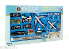 RealToy Air Force One Trump Airplane 22  pc Secret Service SUV Limo Copter Set
