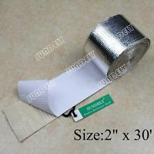"Adhesive Backed Heat Shield Wrap Tape For Car Intake Intercooler Pipe 2"" x 30ft"