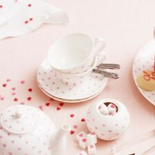 Bombay Duck Bisous Hearts, Teacup & Saucer in Pink, Tea Cup, Set, Party