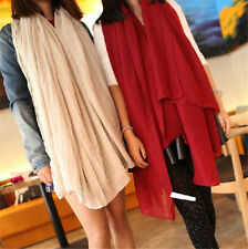 Winter Warm cotton long Scarf soft Cashmere Wrap Shawl stole scarves wine red