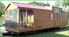 2017 Suwannee 12x40 RUSTIC CABIN PARK MODEL MOBILE TINY HOME w/PORCH-ALL FLORIDA
