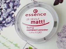 NEW Essence All About Matt Fixing Compact Transparent Pressed Powder Oil Control