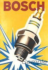 Vintage bosch bougie publicité A3 Poster Print