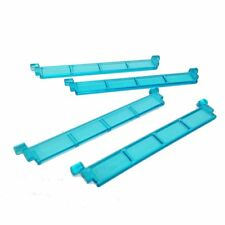 ☀️NEW! Lego Parts Garage Roller Door Section PACK of 4 - Transparent light blue