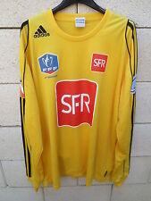 VINTAGE Maillot COUPE de FRANCE porté n°14 90ème anniversaire jaune SFR trikot