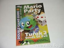 N64 MAGAZINE ~ double jeu guide no. 16 ~ mario party / TUROK 2 seeds of evil