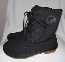 Sorel Canvas Boots, Women's, Size 10, Black, Lace-Up