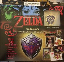 2016 The Legend Of Zelda Collector Fun Box Pin, Gold Foil Card, & Poster