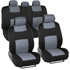 Car Seat Covers for Honda Civic Sedan Coupe Grey & Black Split Bench