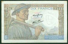 10 FRANCS MINEUR du  20-1-1944  ETAT:  TTB+  N° S79 03721