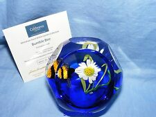 Caithness Whitefriars Glass Paperweight British Garden Bumble Bee Ltd Ed of 50