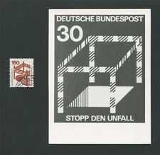 BUND FOTO-ESSAY 703 DAUERSERIE UNFALL 1971 PHOTO-ESSAY PROOF RARE!! e26