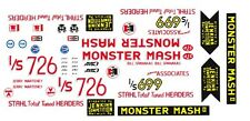 Bill Jenkins Monster Mash II Chevy '55 1/64th HO Scale Waterslide Decals