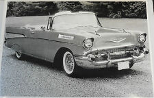 """12 By 18"""" Black & White Picture 1957 Chevrolet Convertible"""