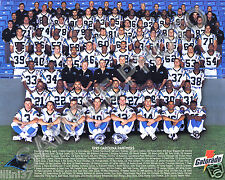 1995 CAROLINA PANTHERS FIRST INAUGURAL 8X10 TEAM PHOTO PICTURE