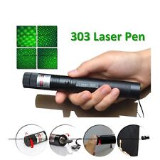 30km Powerful 1mw 303 Green Pointer Laser Pen Adjustable Focus 532nm Lazer light