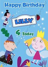- BEN AND HOLLY - IDEAL FOR SON DAUGHTER PERSONALISED CHILDREN'S BIRTHDAY CARD