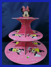3 Tier Cupcake Stand Cup Cake Cases Toppers Wrappers, Minnie Mouse