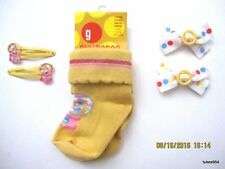 Gymboree Bubble Fun Gumball Dots Socks Hair 5 pc Set 12-18-24 Yellow Pink 1 NWT
