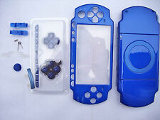 Blue Full Housing Shell Faceplate Case for PSP 2000 with screwdriver