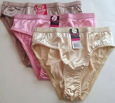 NWT COCO SECRET: INTIMATES SET OF 3 HIGH CUT BIKINI:S M LG XLG SAND/ PINK/ BEIGE