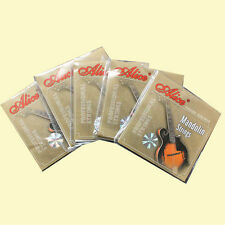 5 Packs Alice Mandolin Strings, 8 Loop End Stainless Strings 0.10/0.34 -AM03