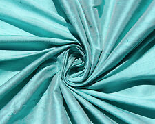 "Robin's Egg Blue 100% dupioni silk fabric yardage By the Yard 45"" wide Wedding"