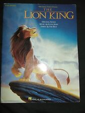 1994© Walt Disney The Lion King Easy Piano song book with pictures