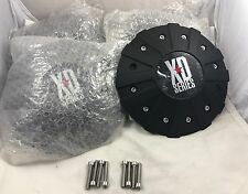 KMC XD Series Wheels Black Custom Wheel Center Caps Set of 4 pn: 846L215B