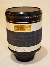 Rokinon 500mm f/6.3 Lens For Canon EOS Camera with 2x Teleconverter