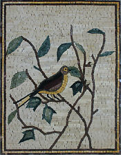 Details about  Tile Stone Art Cute Bird Tree Leaves Marble Mosaic AN855